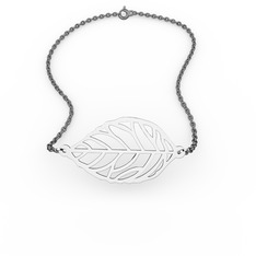 Yaprak Bilezik - 925 ayar gümüş bilezik (40 cm gümüş rolo zincir) #1wvh5ds