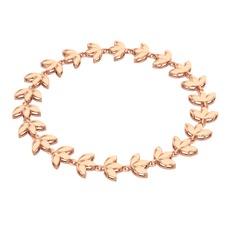 Lotus Bilezik - 925 ayar rose altın kaplama gümüş bilezik #1a782s9
