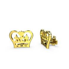 Kral Tacı Kol Düğmesi - 925 ayar altın kaplama gümüş kol düğmesi #sca496