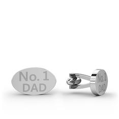Elips Kol Düğmesi - 925 ayar gümüş kol düğmesi #10omq3v