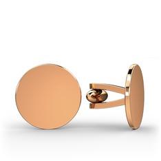 Daire Kol Düğmesi - 925 ayar rose altın kaplama gümüş kol düğmesi #3dh6mg