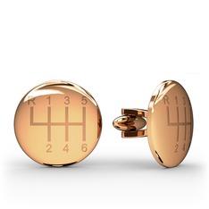 Vites Kol Düğmesi - 925 ayar rose altın kaplama gümüş kol düğmesi #1wioy36