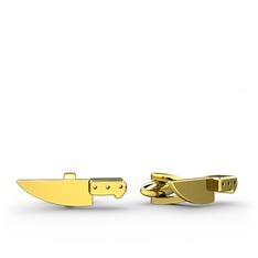 Bıçak Kol Düğmesi - 925 ayar altın kaplama gümüş kol düğmesi #17a7bak