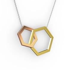 Chen Kolye - 14 ayar altın kolye (40 cm gümüş rolo zincir) #ev1rbz