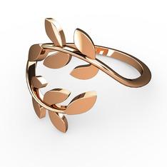 Başak Yüzük - 925 ayar rose altın kaplama gümüş yüzük #11l1rc9