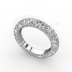 Monna Tamtur Yüzük - Swarovski 925 ayar gümüş yüzük #18x3lu7