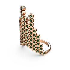 Moola Yüzük - Yeşil kuvars 925 ayar rose altın kaplama gümüş yüzük #196b038
