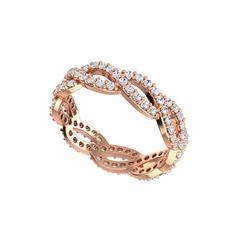 Sonsuzluk Tamtur Yüzük - Swarovski 925 ayar rose altın kaplama gümüş yüzük #1fc57s2