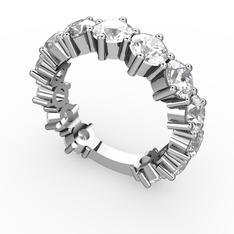 Tiana Tamtur Yüzük - Beyaz zirkon 925 ayar gümüş yüzük #11h6p3l