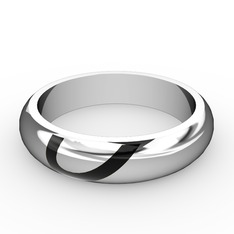 Anuves Kalp Alyans - 925 ayar gümüş yüzük (Siyah mineli) #1cyo9nd