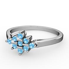 Merna yüzük - Akuamarin 925 ayar gümüş yüzük #1dy65kc