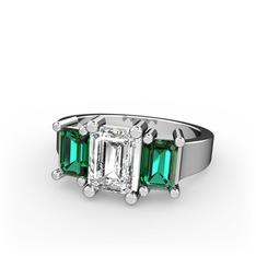 Arnia Yüzük - Swarovski ve yeşil kuvars 925 ayar gümüş yüzük #10hg6zc