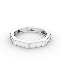 Noa Yüzük - 925 ayar gümüş yüzük (Beyaz mineli) #1jgx42r
