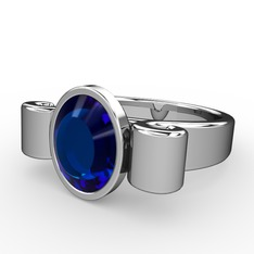 Lir Yüzük - Lab safir 925 ayar gümüş yüzük #104ql91