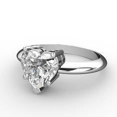 Ena Kalp Yüzük - Beyaz zirkon 925 ayar gümüş yüzük #1af866z