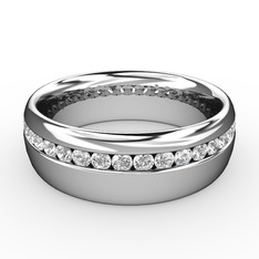 Ellone Alyans - Beyaz zirkon 925 ayar gümüş yüzük #10z42yp
